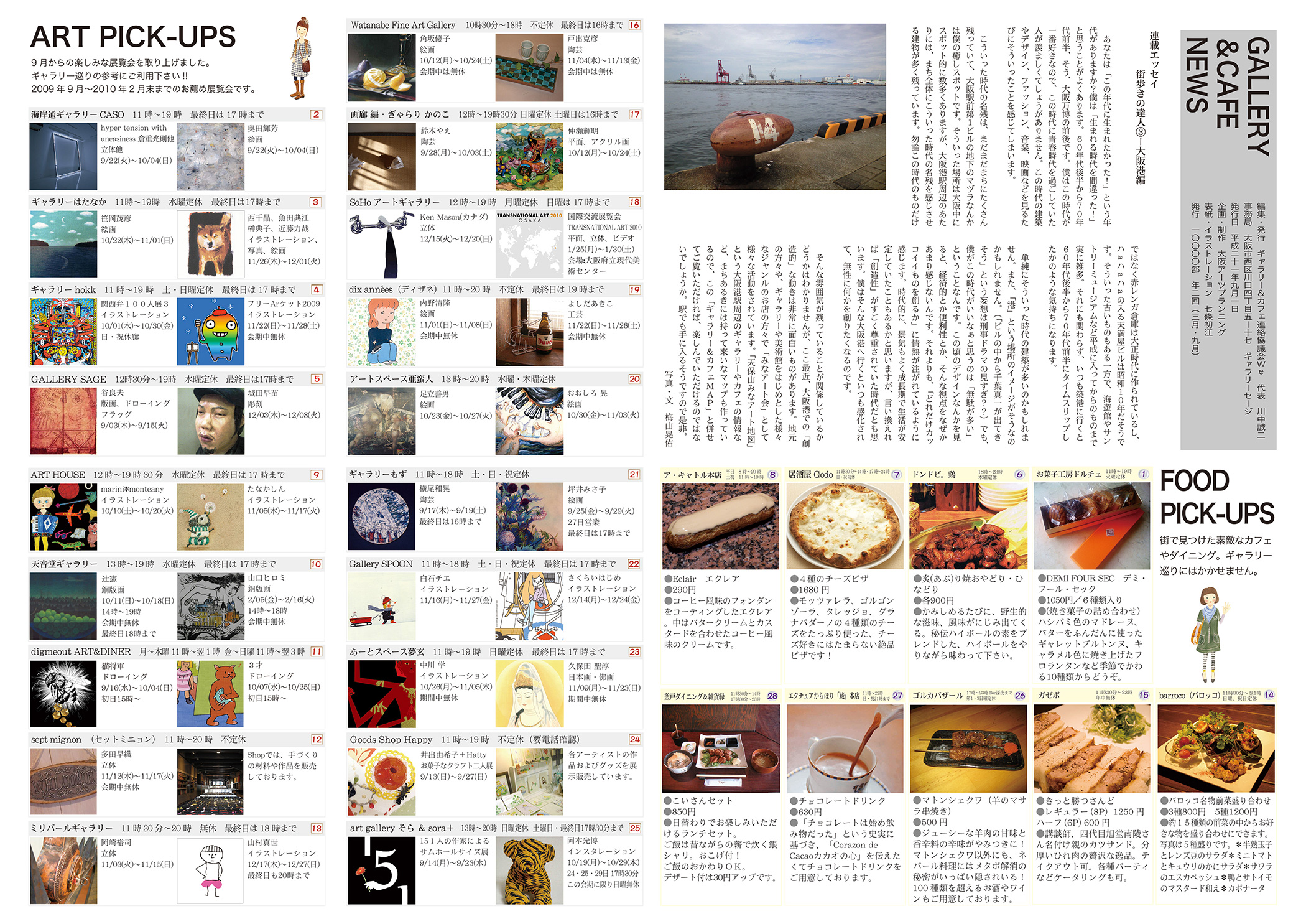 ギャラリー&カフェMAP vol.3 大阪を東西にカルチャーする