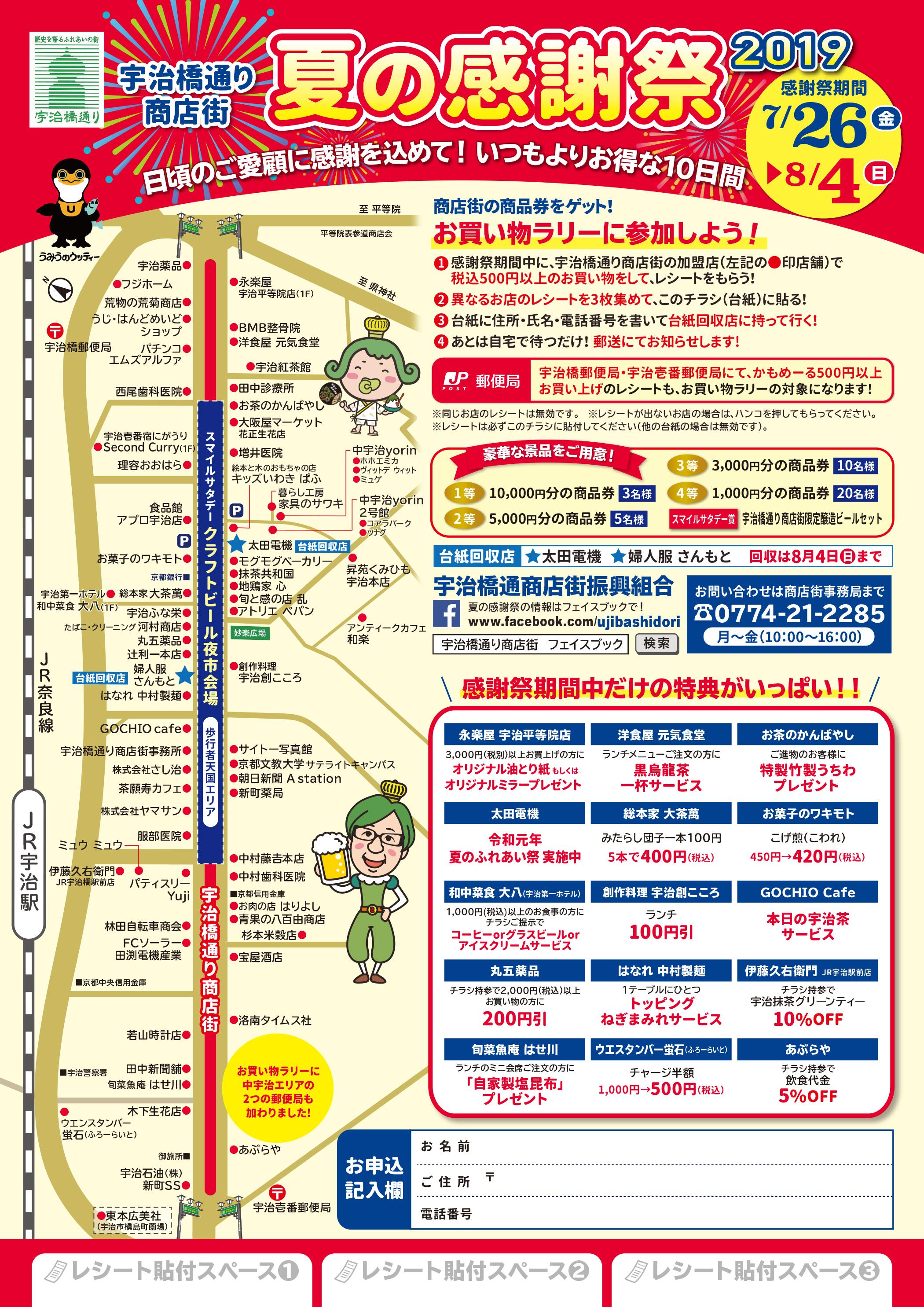 クラフトビール夜市・宇治橋通り商店街・スマイルサタデー(2019年8月3日開催)
