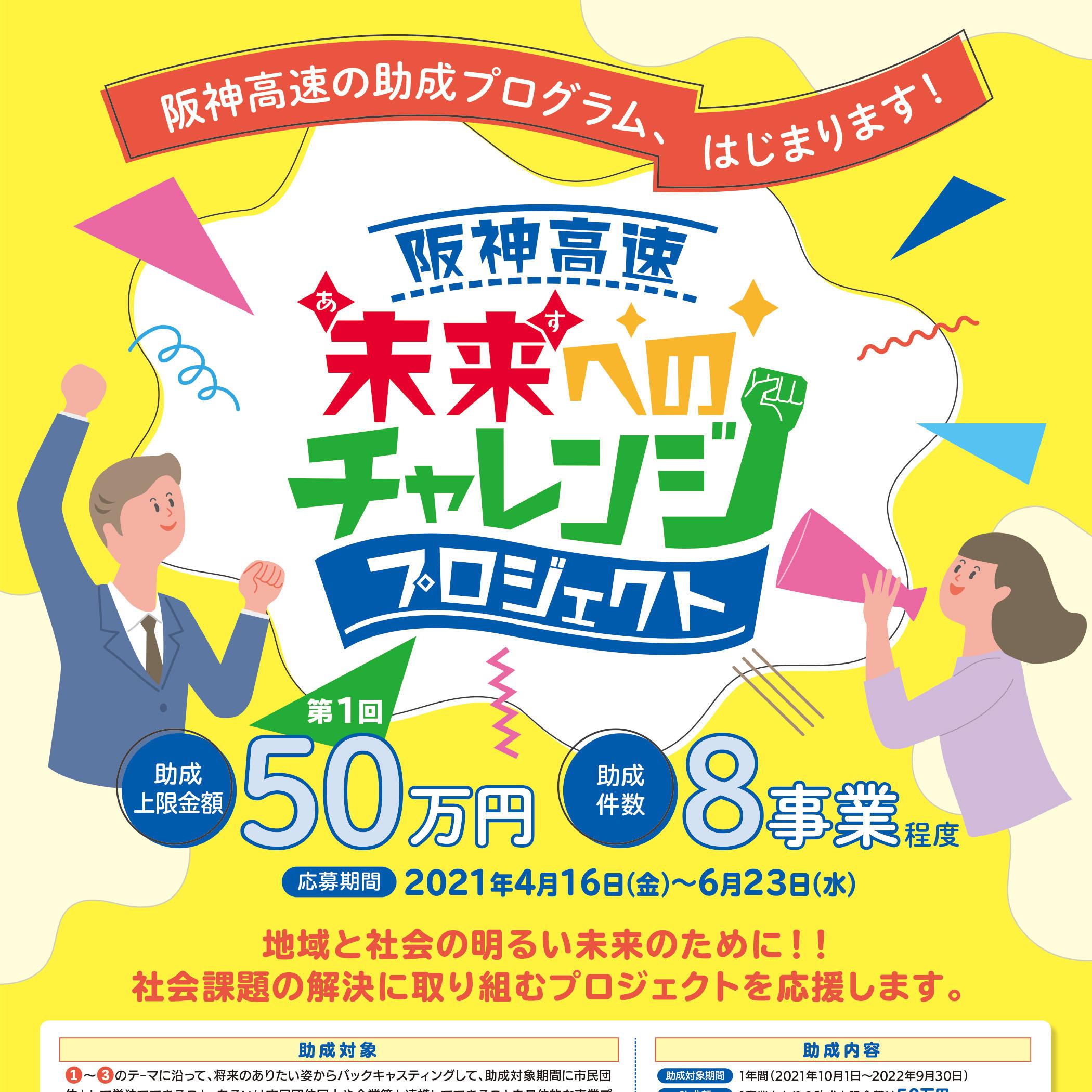 阪神高速 未来へのチャレンジプロジェクト|2021.4.16〜6.23(大阪府・兵庫県)